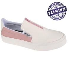 Promo Raindoz Sepatu Slip On Wanita Putih Pink Rak 031 Murah