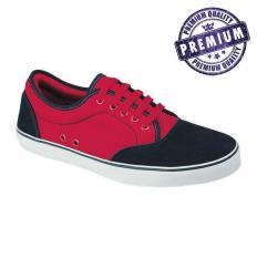 Toko Raindoz Sepatu Sneaker Pria Merah Hitam Rba 001 Lengkap Jawa Barat
