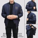 Model Raja Clothing Jaket Bomber Logo Navy Terbaru