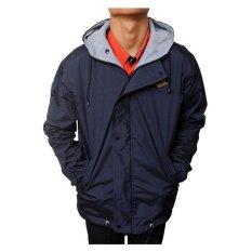 Dapatkan Segera Raja Clothing Jaket Parasut Simpel Logo Darkblue