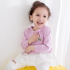 Rajutan Lindung Nilai Musim Semi atau Gugur Baru Baju Dalaman Gadis Sweater On (Violet)