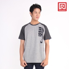 Ramayana - A/X House - Kaos T-Shirt Pria Raglan Urban - Oblong – Salur Fider – Abu Kombinasi lengan misty79 – A/X House (07973281)
