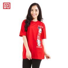 Ramayana - Disney x Ramayana - Kaos T-shirt Disney Side Printed Mickey Minnie Merah