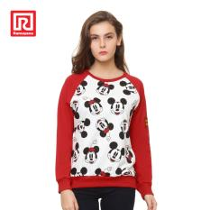 Beli Ramayana Disney X Ramayana Sweater Disney Two Tone Printed Mickey Pattern Putih Merah Jawa Barat