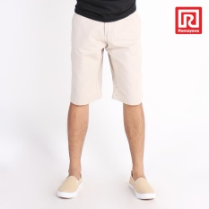 Ramayana - House - Celana Chino Pendek Pria  Regular Fit Non-Stretch Cream-A/X House (07972901)