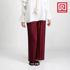Spesifikasi Ramayana Jj Celana Kulot Plisket Wanita Maroon Jj 07966245 Beserta Harganya