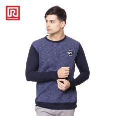 Jual Ramayana Raf Kaos Sweatshirt Raglan Motif Corak Cotton Navy Antik