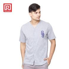 Ramayana - RAF - Kaos T-shirt Baseball 88 Cotton Abu-Abu