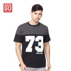 Beli Ramayana Raf Kaos T Shirt Printed 73 Two Tone Cotton Hitam Nyicil
