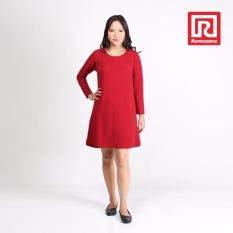 Promo Ramayana Vannisa Dress Wanita Basic Lengan Panjang Earreen 2 Vannisa