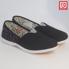 Spesifikasi Ramayana World Star Sepatu Kasual Slip On Wanita Flat Shoes Kanvas Motif World Star 07969931 36 Lengkap