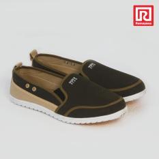 Harga Ramayana Worldstar Sepatu Slip On Pria Polos Kain Kanvas Hijau Kombinasi Coklat Muda Worldstar 07971595 Termahal