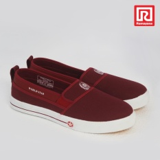 Jual Beli Ramayana Worldstar Sepatu Slip On Pria Polos Kain Kanvas Merah Maroon Worldstar 07971688 Jawa Barat