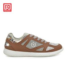 Ramayana - Worldstar - Sepatu Sneakers Wanita Polos Abstract Shades Back Cokelat