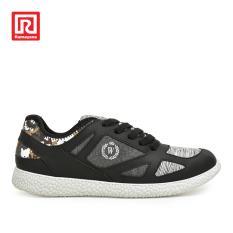 Ramayana - Worldstar - Sepatu Sneakers Wanita Polos Abstract Shades Back Hitam
