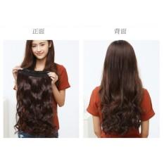 Rambut Palsu Wanita Hairclip Darkbrown Bentuk Curly