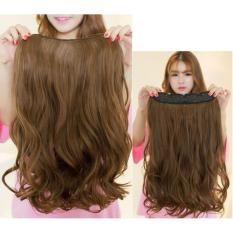 Rambut Palsu Wanita Hairclip Ligtbrown Bentuk Wave
