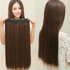 Rambut Palsu Wanita Hairclip Lurus Ligtbrown Lurus