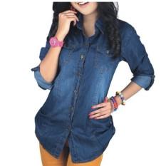 Beli Ranita Fashion Kemeja Jeans Denim Impor Wanita Di Dki Jakarta