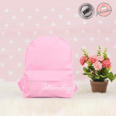 Tas Ransel Wanita - Harga grosir - RM Mini Polos Pink - JETCOMEBAG