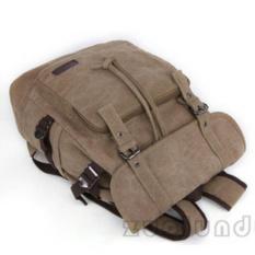 Ransel Serut Kanvas Zou Lun Duo 8551  [Khaki/Krem] - Tas punggung Pria - Backpack Wanita - Tas Laptop - Tas Kerja - Tas Sekolah - Tas Kuliah