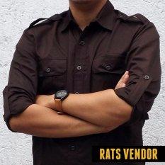 Beli Barang Rats Vendor Kemeja Outdoor Pdl Lengan Panjang Coklat Gelap Online
