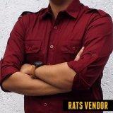 Jual Rats Vendor Kemeja Outdoor Pdl Lengan Panjang Maroon Jawa Barat