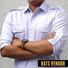 Toko Rats Vendor Kemeja Outdoor Pdl Lengan Panjang Putih Murah Jawa Barat