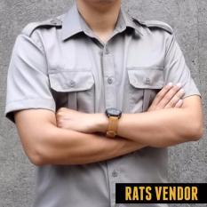 Toko Rats Vendor Kemeja Outdoor Pdl Lengan Pendek Beige Jawa Barat