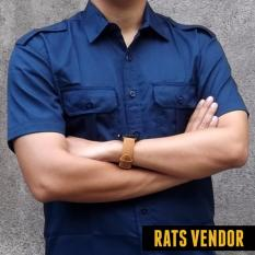 Harga Hemat Rats Vendor Kemeja Outdoor Pdl Lengan Pendek Biru Navy