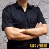 Jual Rats Vendor Kemeja Outdoor Pdl Lengan Pendek Hitam Grosir