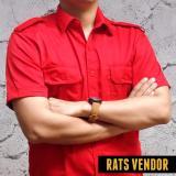 Harga Rats Vendor Kemeja Outdoor Pdl Lengan Pendek Merah Baru Murah
