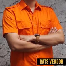 Jual Rats Vendor Kemeja Outdoor Pdl Lengan Pendek Orange Online Jawa Barat