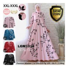 RATU SHOPPING Gamis lgm1018 Miss bee XXL XXXL Super jumbo besar polos / gamis motif / pesta balotelly gamis batik gamis motif bunga/ gamis busui / gamis bumil / gamis big size / gamis plush size / gamis pesta / gamis harian / gamis fashion / gamis trendy