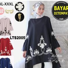 [ RATU SHOPPING ] Tunik ekslusif bordir pita LTS2005  / Tunik jumbo / tunik big size / tunik plush size / tunik besar / tunik elegant / tunik mewah / tunik murah bagus/ atasan murah / atasan diskon TUNIK JUMBO SIZE XXXL HIGH QUALITY