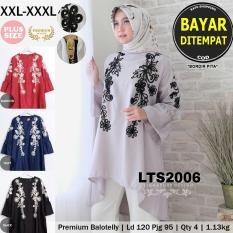 [ RATU SHOPPING ] Tunik ekslusif bordir pita LTS2006  / Tunik jumbo / tunik big size / tunik plush size / tunik besar / tunik elegant / tunik mewah / tunik murah bagus/ atasan murah / atasan diskon TUNIK JUMBO SIZE XXXL HIGH QUALITY