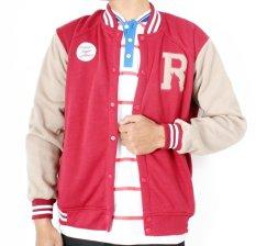 Jual Rawks Redborn Varsity Jacket Merah