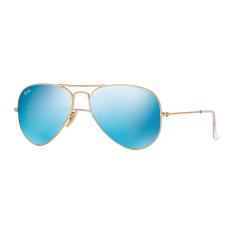 Iklan Ray Ban Rb3025 112 17 Aviator Kacamata Unisex Crystal Green Mirror Multi Light Blue