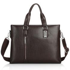 Promo Raynathan Hot Sale Melintang Portable Briefcase Komputer Laptop Tas Bahu Miring Businiess Tote Leather Handbag Kopi Akhir Tahun