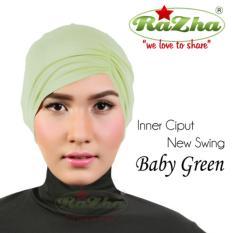 Razha Inner Ciput Swing Daleman Jilbab Kerut Ala Risty Tagor Baby Green
