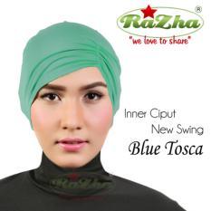 Razha Inner Ciput Swing Daleman Jilbab Kerut Ala Risty Tagor Blue Tosca