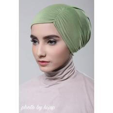 Razha Inner Ciput Swing Daleman Jilbab Kerut Ala Risty Tagor Pale Green