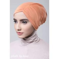 Razha Inner Ciput Swing Daleman Jilbab Kerut Ala Risty Tagor Pastel Orange