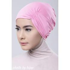 Razha Inner Ciput Swing Daleman Jilbab Kerut Ala Risty Tagor Soft Pink