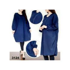 Rb Baju Atasan Blouse Tunik Jumbo Kancing 3 Asli