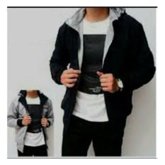Beli Rch Jaket Bolak Balik Black Grey Yang Bagus