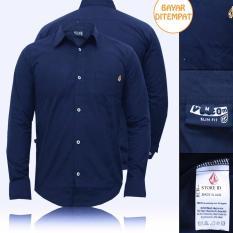 RCH-Kemeja Navy Pria  Premium