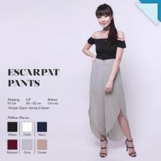 Ready Bawahan Wanita Murah Surabaya Celana Escarpat Pants Grey