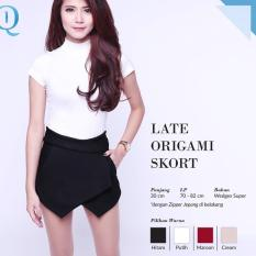 Ready Blouse Wanita Murah Surabaya Late Origami Skort Black Wedges Sup