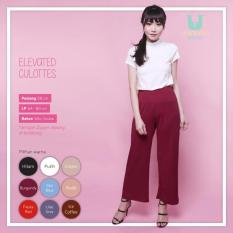 Ready Celana Wanita Murah Surabaya Elevated Culottes Burgundy Silky